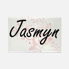 Jasmyn Artistic Name Design with Butterfli Magnets