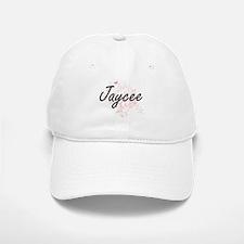 Jaycee Artistic Name Design with Butterflies Baseball Baseball Cap