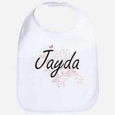 Jayda Artistic Name Design with Butterflies Bib