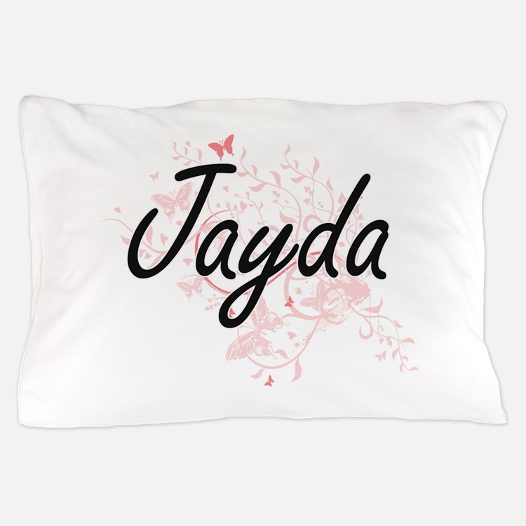 Jayda Artistic Name Design with Butter Pillow Case