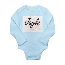 Jayla Artistic Name Design with Butterfl Body Suit