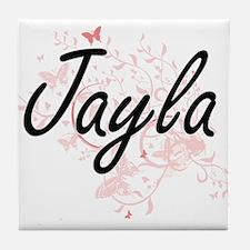 Jayla Artistic Name Design with Butte Tile Coaster