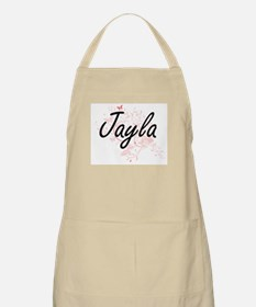 Jayla Artistic Name Design with Butterflies Apron