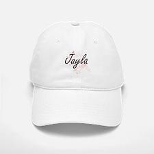 Jayla Artistic Name Design with Butterflies Baseball Baseball Cap