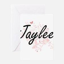 Jaylee Artistic Name Design with Bu Greeting Cards