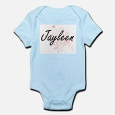 Jayleen Artistic Name Design with Butter Body Suit