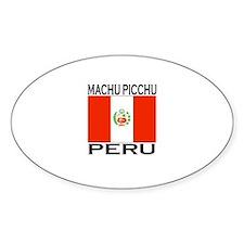 Machu Picchu, Peru Oval Decal