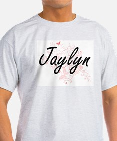 Jaylyn Artistic Name Design with Butterfli T-Shirt