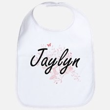 Jaylyn Artistic Name Design with Butterflies Bib