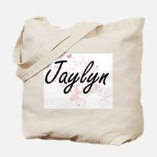 Jaylyn Artistic Name Design with Butterfl Tote Bag