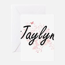 Jaylyn Artistic Name Design with Bu Greeting Cards