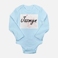 Jazmyn Artistic Name Design with Butterf Body Suit