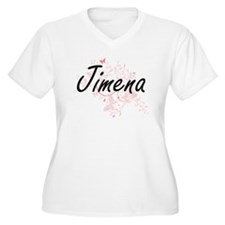 Jimena Artistic Name Design with Plus Size T-Shirt