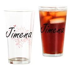 Jimena Artistic Name Design with Bu Drinking Glass