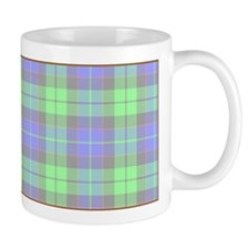 Green And Blue Plaid Mug