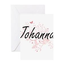Johanna Artistic Name Design with B Greeting Cards