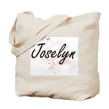 Joselyn Artistic Name Design with Butterf Tote Bag