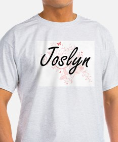 Joslyn Artistic Name Design with Butterfli T-Shirt