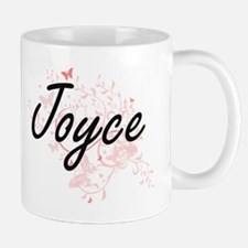 Joyce Artistic Name Design with Butterflies Mugs