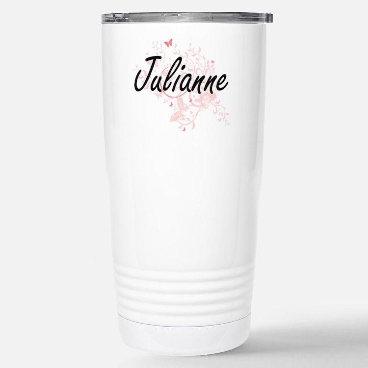Julianne Artistic Name Stainless Steel Travel Mug