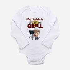 Cute Barbecuing Long Sleeve Infant Bodysuit
