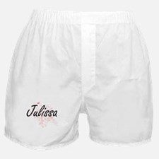 Julissa Artistic Name Design with But Boxer Shorts