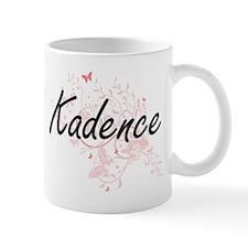 Kadence Artistic Name Design with Butterflies Mugs