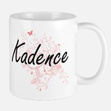 Kadence Artistic Name Design with Butterflies Mugs