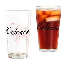 Kadence Artistic Name Design with B Drinking Glass