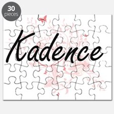 Kadence Artistic Name Design with Butterfli Puzzle