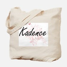 Kadence Artistic Name Design with Butterf Tote Bag