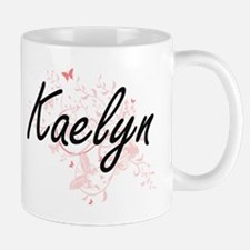 Kaelyn Artistic Name Design with Butterflies Mugs
