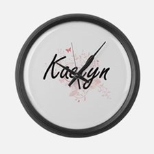 Kaelyn Artistic Name Design with Large Wall Clock