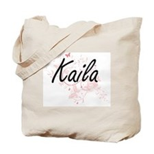 Kaila Artistic Name Design with Butterfli Tote Bag