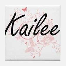 Kailee Artistic Name Design with Butt Tile Coaster