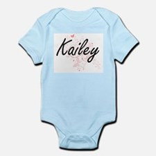 Kailey Artistic Name Design with Butterf Body Suit