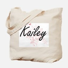 Kailey Artistic Name Design with Butterfl Tote Bag