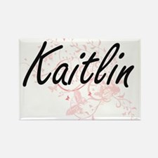 Kaitlin Artistic Name Design with Butterfl Magnets