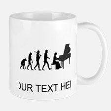 Piano Player Evolution (Custom) Mugs