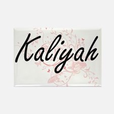 Kaliyah Artistic Name Design with Butterfl Magnets