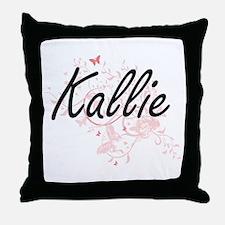 Kallie Artistic Name Design with Butt Throw Pillow