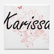 Karissa Artistic Name Design with But Tile Coaster