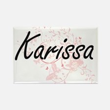 Karissa Artistic Name Design with Butterfl Magnets