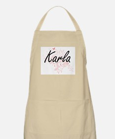 Karla Artistic Name Design with Butterflies Apron