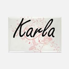 Karla Artistic Name Design with Butterflie Magnets