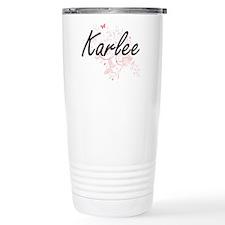 Karlee Artistic Name De Travel Mug