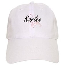 Karlee Artistic Name Design with Butterflies Cap