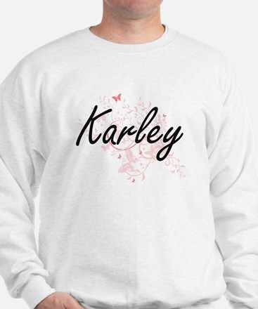 Karley Artistic Name Design with Butter Sweater