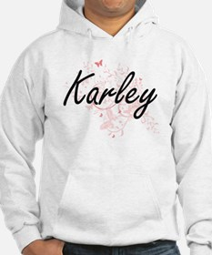 Karley Artistic Name Design with Hoodie Sweatshirt