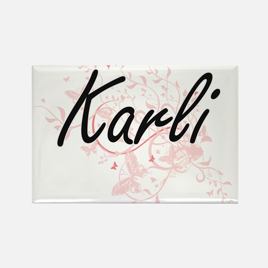 Karli Artistic Name Design with Butterflie Magnets